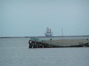 cape henlopen state park fishing pier, fishing pier, kalmar nyckel