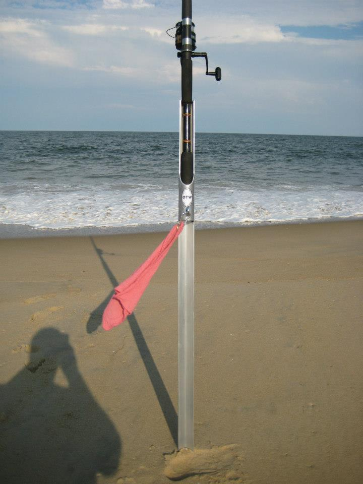 Otw over the waves sand sticks are excellent for Beach fishing rod holder