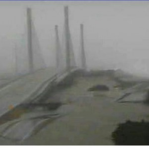 Charles W Cullen bridge during hurricane Sandy, indian river inlet bridge, delaware surf fishing