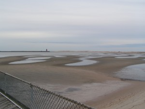 Cape Henlopen Flats exposed at low tide