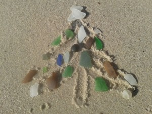sea glass, christmas tree, delaware surf fishing