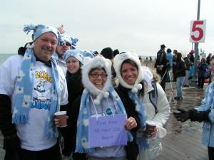 polar plunge, lewes, rehoboth, team bluedoggies