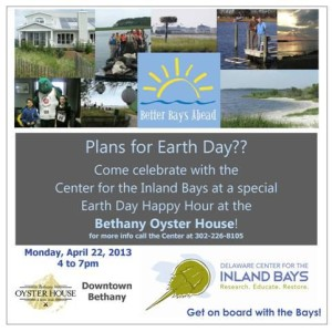 delaware center for the inlannd bays, earth day, happy hour,