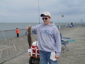 summer flounder, cape henlopne fishing pier, dsf, delaware surf fishing