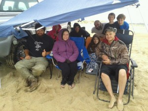 delaware surf fishing, herring point beach, gordons pond, dsf,