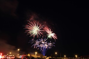 Fireworks, fourth of july, cape henlopen state park, fishing pier