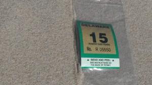 2015 Delaware Surf Fishing permit sticker
