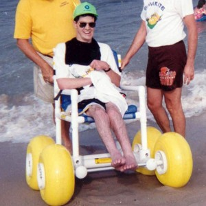 specialized beach wheelchairs, which enable wheelchair users to get closer to the ocean