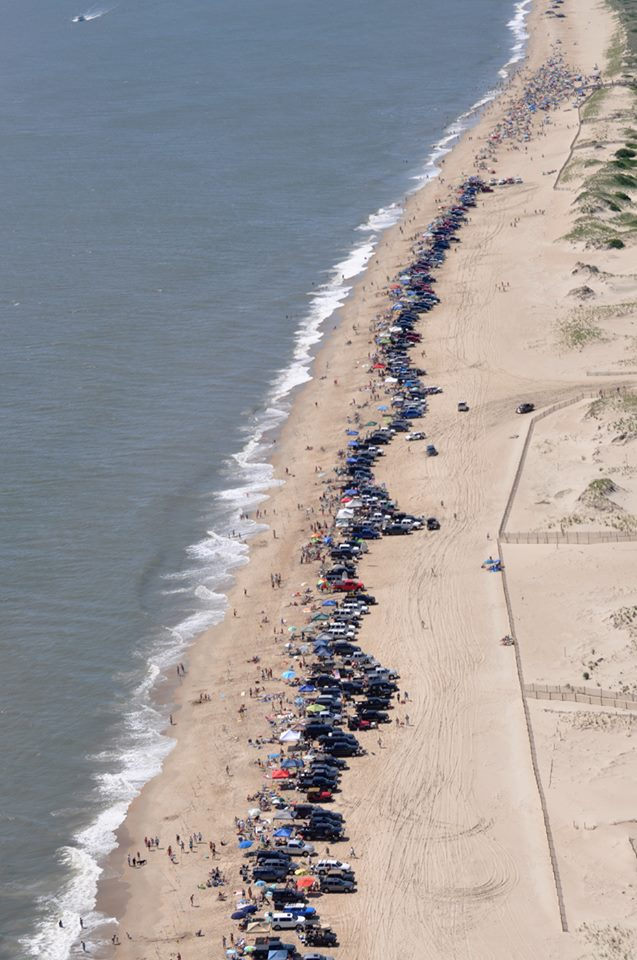 Overcrowded Surf Fishing