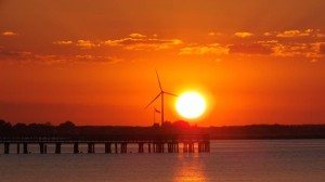 lewes windmill, cape henlopne pier, delaware sunset, sussex county,