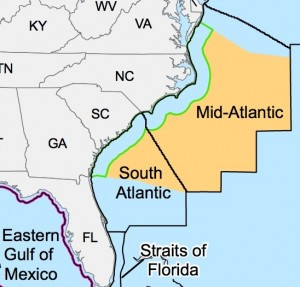 Proposed drilling area for the Atlantic Coast. BOEM, oil andgas, drilling on Atlantic coast, surfrider foundation