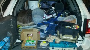 surf fishing truck, clean the gear, preseason maintenance,