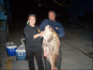 kevin blouch, black drum, lewes, delaware, sussex county,  delaware bay drum fishing, surf clams
