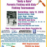 """Andy & Opie"" Parents Fishing with Kids Fishing Tournament"