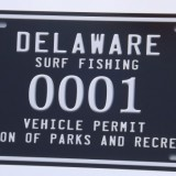 Numbered Delaware Surf Fishing Tags Details