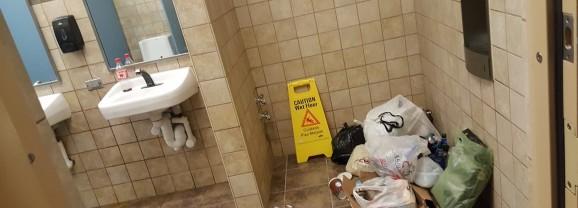 New Bathrooms at Northside Get Trashed